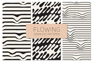 Flowing Seamless Patterns Set