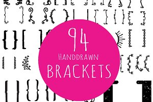 94 Handdrawn brackets