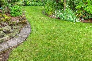 Landscaped garden scene