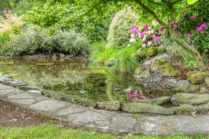 Stone edged pond