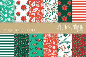 Christmas Digital Paper Set