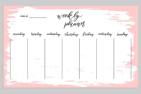 weekly planner set ~ graphic objects ~ creative market