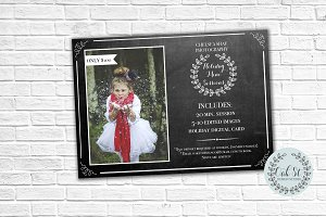 Photographer Holiday Flyer Template