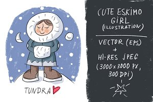 Cute eskimo girl
