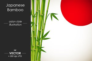 Japanese bamboo - vector design