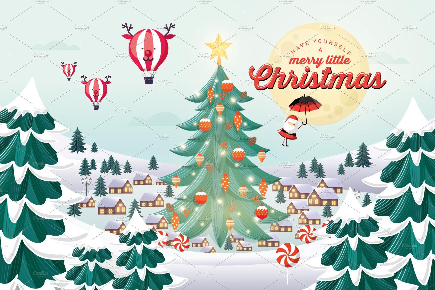 Christmas Template Illustrations Creative Market
