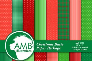 Christmas Patterned Papers, 1501
