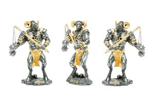 Minotaur figurines isolated