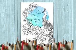 Coloring book /birds