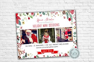 Holiday Photographer Marketing Flyer