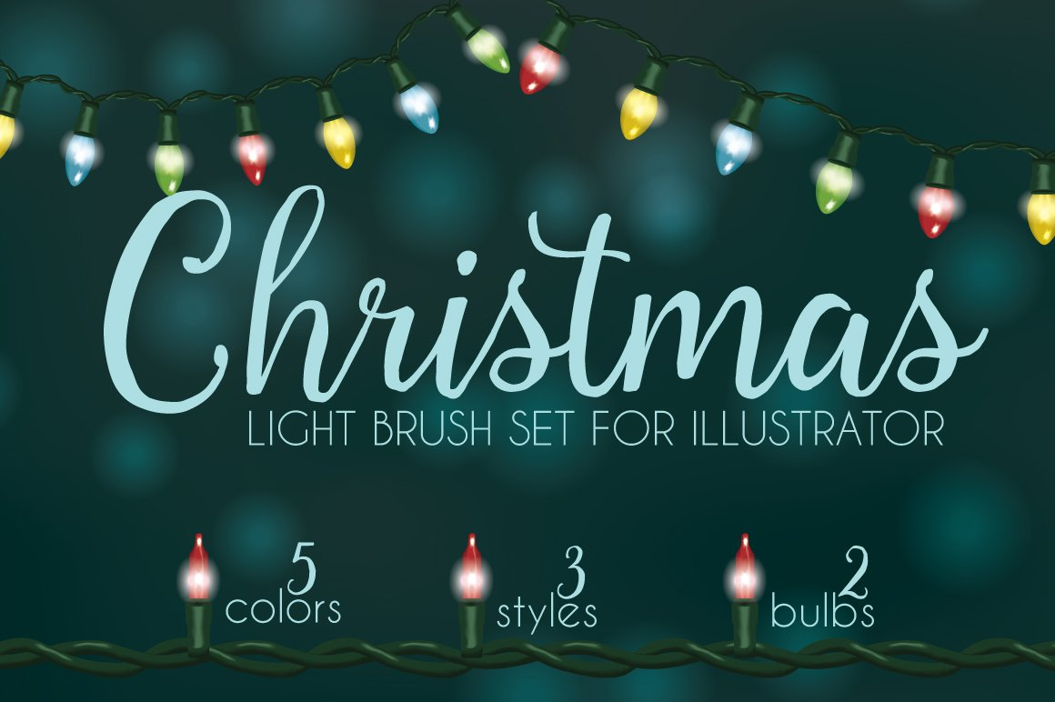 Christmas light brushes Illustrator ~ Brushes ~ Creative Market