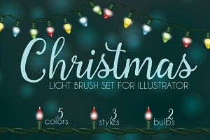 Christmas light brushes Illustrator