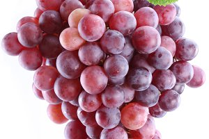 Grapes on a white background. Isolated bunch.