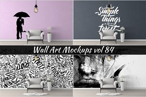 Wall Mockup - Sticker Mockup Vol 84