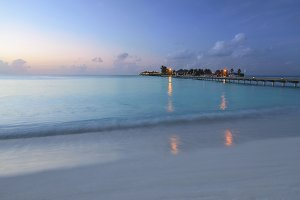 evening in the Maldives