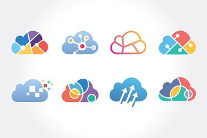 Cloud Service Technology Symbol Set