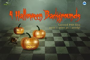 4 Halloween Backgrounds