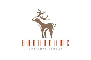 White Tail Deer Logo