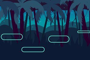 Dark Jungle Seamless Background