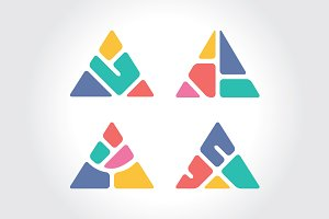 Abstract Colorful Triangle