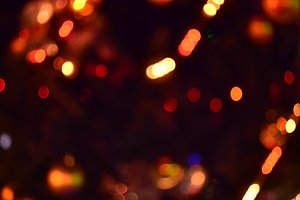 Soft focus Christmas Lights
