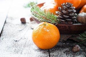Tangerines christmas decorations
