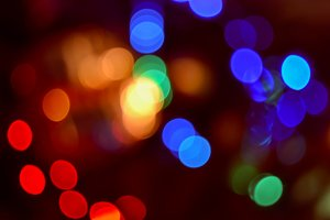 Soft focus Christmas Lights