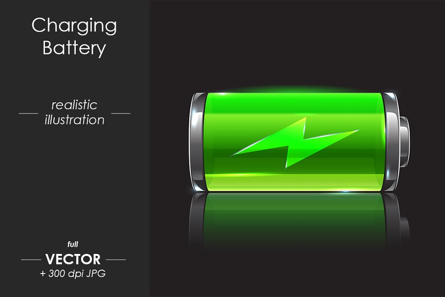 charging battery vector design pre designed illustrator graphics creative market charging battery vector design pre