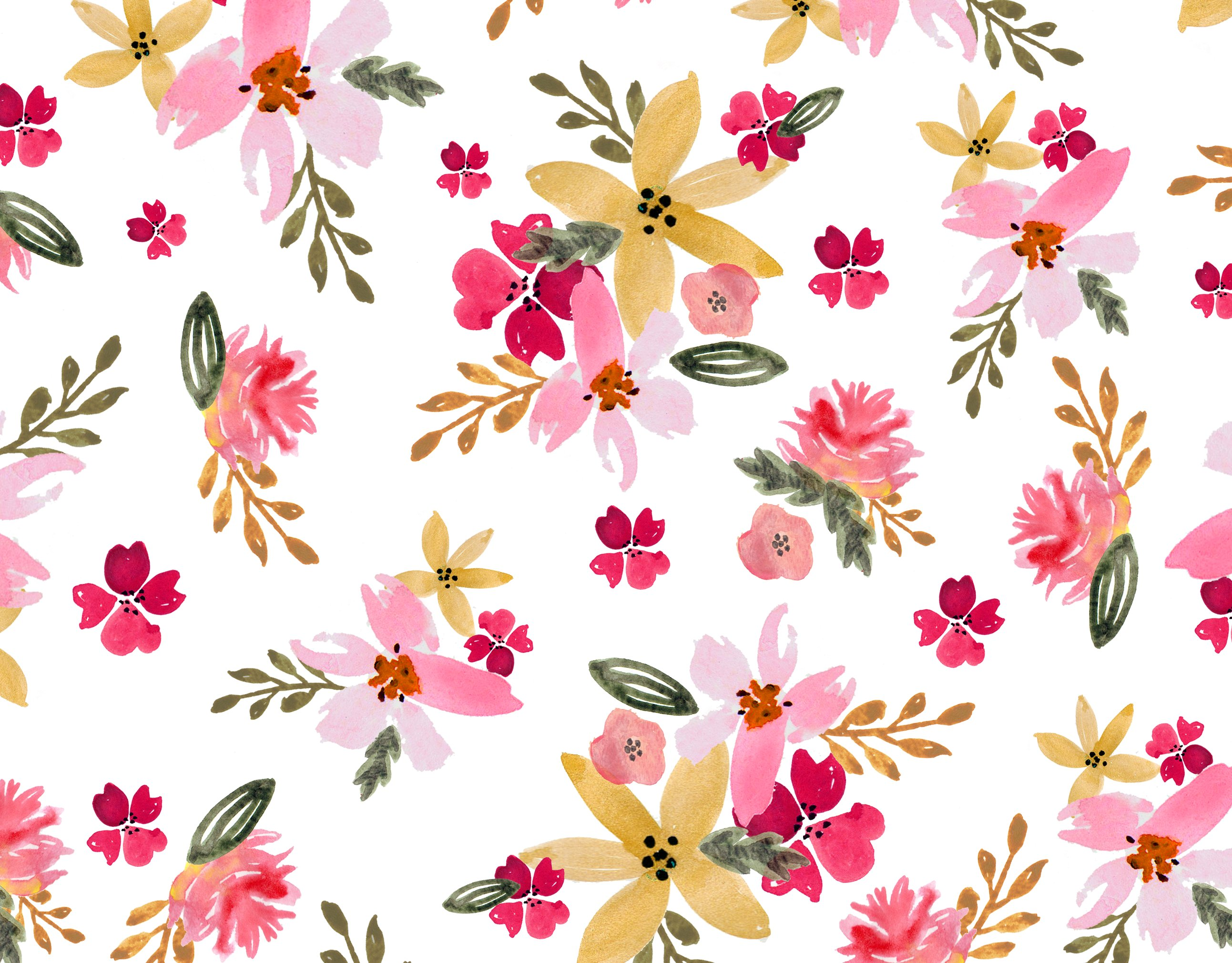 Watercolor Floral Seamless Pattern ~ Graphic Patterns ...