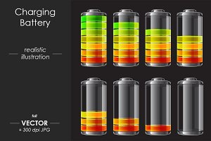 Charging Battery vector design