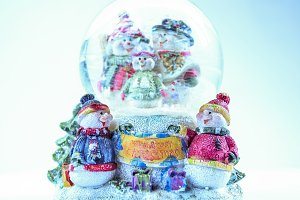 Merry Christmas toy snowmen