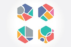 Abstract Colorful Hexagon
