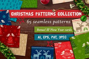 65  Seamless Christmas Patterns