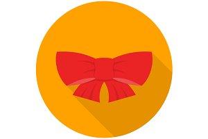 Ribbon bow icon flat