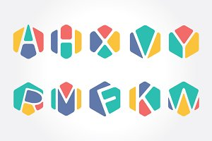 Creative Initial Alphabet Hexagon