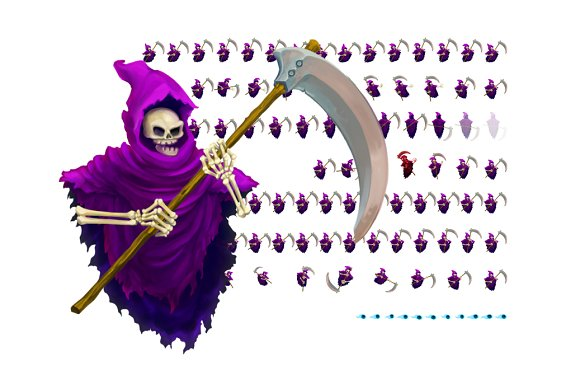 grim reaper character sprite graphic objects creative market