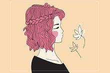 Girl with braided hair