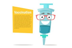 Vaccination. Syringe