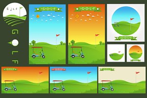 template of golf field