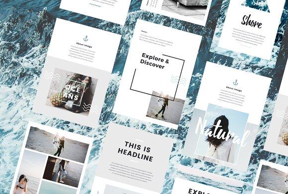 Nautical - A4 Printable PowerPoint