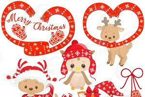 Christmas Forest Animal Clipart 1510