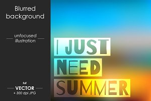 Vector blur background, Summer