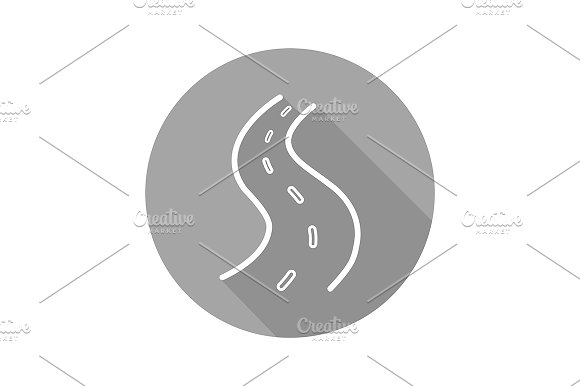 Road icon. Vector - Icons