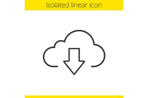 Cloud storage files download. Vector
