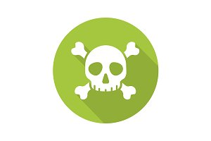 Poison danger icon. Vector