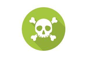 Poison danger icon. Vector