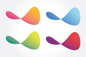 Colorful Abstract Shape Symbol Vol 1