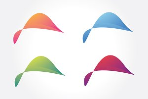 Colorful Abstract Shape Symbol Vol 2