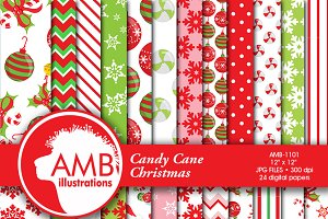 Christmas Candy Digital Papers, 1101
