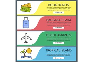 Vacation and travel banners. Vector